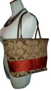 Coach Tote in Brown and Orange