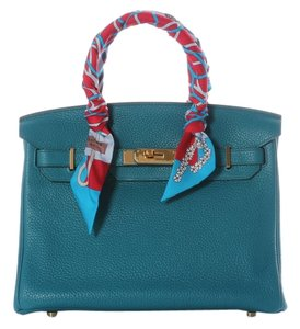 Hermès Togo Leather Hr.j0309.02 Blue Satchel