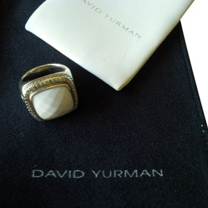 David Yurman David Yurman Diamond White Agate Ring