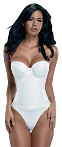 Merry Modes Flattering Me Longline Bra Bustier 780NS White Size 34D