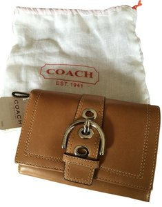 Coach Coach Tan Pebble Leather Wallet NWT