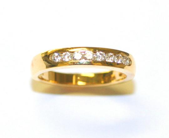Yellow Gold Special For Holiday's Chanel Diamond Women's Wedding Band
