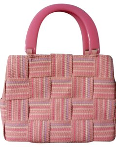 M & G Bertini Tote in Lavender, white and shades of pink
