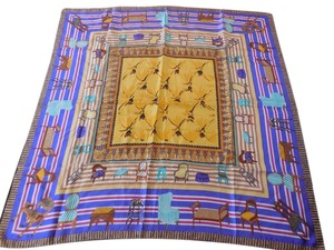 Perry Ellis Perry Ellis Silk Scarf with Chairs Design