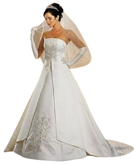 David 39 s bridal white satin st tropez formal wedding dress for St tropez wedding dress