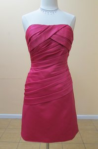Eden Raspberry Satin 6024 Formal Bridesmaid/Mob Dress Size 8 (M)