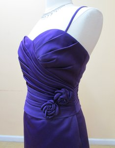 Eden Purple Satin 6013 Formal Bridesmaid/Mob Dress Size 8 (M)