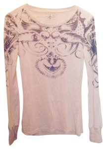 Free People Sacred Heart Machine Washable Cotton Polyester T Shirt White