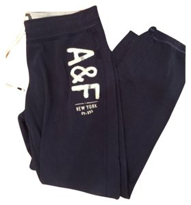 Abercrombie & Fitch Relaxed Pants Navy blue