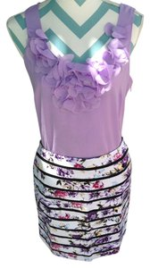 White House   Black Market Pencil New With Tags Floral Lined Mini Skirt multi color