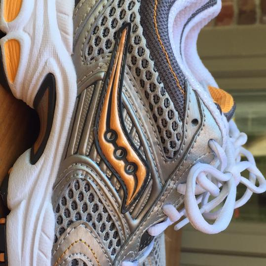 Saucony White, silver, grey, orange Athletic