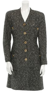 Chanel Gold Hardware Wool Coat