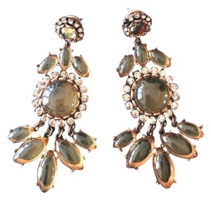 J.Crew J Crew Rose Stained Glass Chandelier Earrings