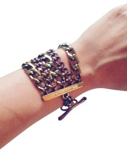 Juicy Couture Multi chain bracelet with toggle closure
