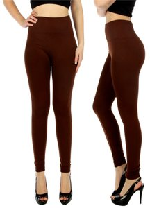 Kimberly C High Waist High Waisted High Waist C Thermal Fleece Thermal Fleece Brown Leggings