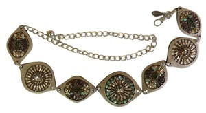 Chico's Chain Belt with Jeweled Embellishment