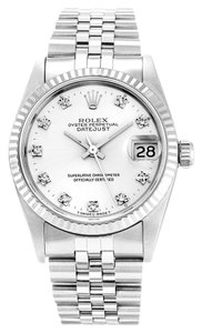 Rolex ROLEX DATEJUST 68274 ORIGINAL DIAMOND DIAL UNISEX WATCH
