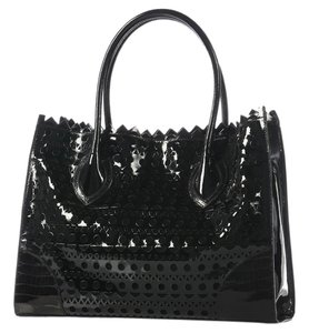 ALAÏA Black Patent Perforated Tote
