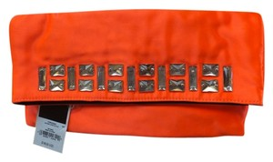 Juicy Couture Sateen Crystal Beads Coral Orange Clutch