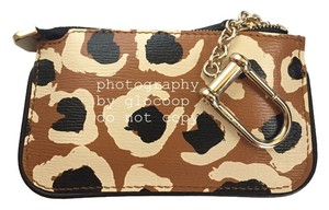 Gucci Gucci Tobacco Animal Leopard Print Leather Clip Key Case Keyholder 233183 A831G