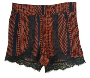 Dress Shorts Rust Navy