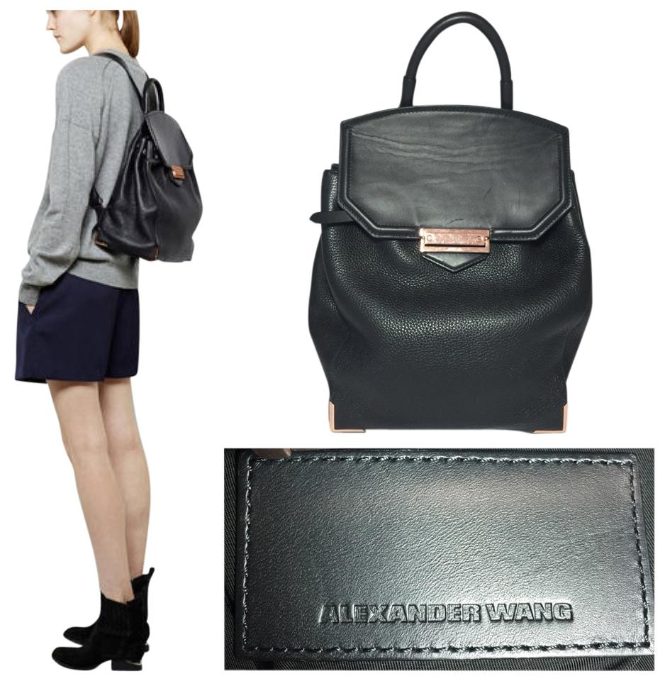 e0dfb4b0c1 Alexander Wang Prisma Skeletal Rose Gold Black Leather Backpack ...