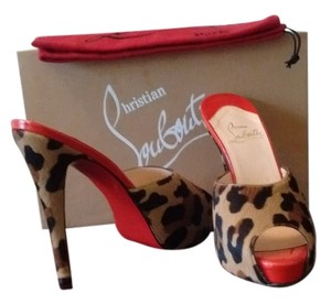 Christian Louboutin Leopard pony Mules