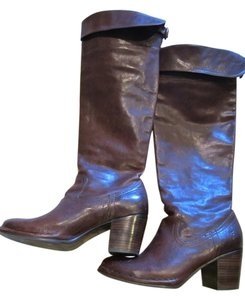Frye Leather Metallic Hardware Brown Boots