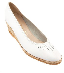 Salvatore Ferragamo White Wedges