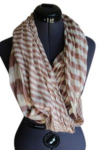 J.Crew Cream striped scarf