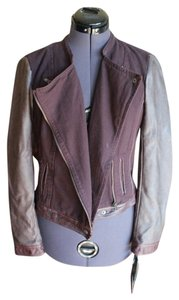 Blanc Noir Moto Dark Purple Motorcycle Jacket