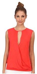 BCBGMAXAZRIA Orange Sleeveless Top poppy
