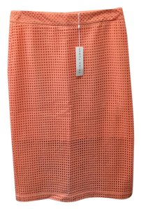 Trina Turk 100% Cotton Made In China Skirt Melon