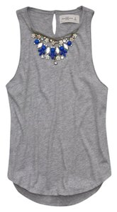 Abercrombie & Fitch Top Light Gray/Blue