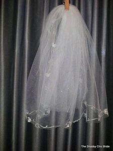 Butterfly Embroidered Veil
