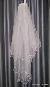 Floral Embroidered Veil