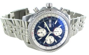 Breitling BREITLING BENTLEY A13362 CHRONOGRAPH STAINLESS STEEL LARGE BLUE DIAL MENS WATCH