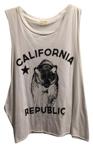 Brandy Melville Cutoff T-shirt Exercise Top White