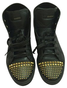 Gucci Studded Studded Leather Black Athletic