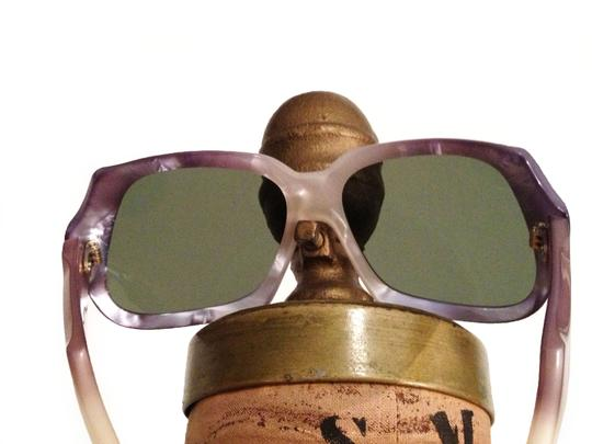Mother of Pearl Mother of Pearl LUCITE Oversized Frame Sunglasses- Made in France