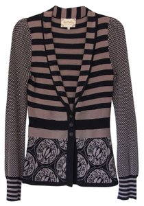 Lia Molly Cardigan Stripes Pattern Buttons Sweater