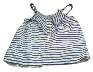 Anthropologie Top blue and white