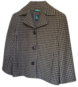 Ralph Lauren Houndstooth Rider Jacket Tan/Brown Blazer
