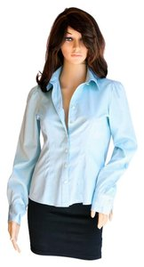 Banana Republic Women Top Light Teal, Turquoise