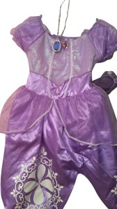 Disney Purple/ Lavender Girls Princess Costume Ballerina Tutu Girl & Hair Kids Size Medium 5-6 Dress
