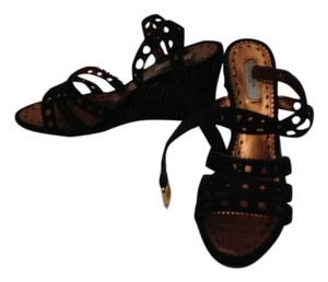 Prada Brown/Black Wedges