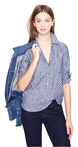 J.Crew Button Down Shirt CIRCLE-PRINT CHAMBRAY