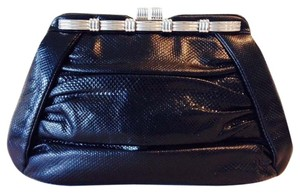 Judith Leiber Black And Silver Clutch