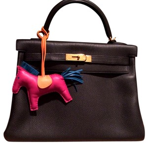 Herms 32 Kelly Satchel in Black