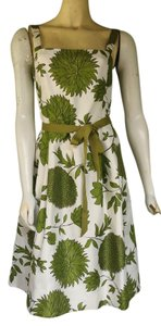 Jessica Howard short dress Green Floral Silky Tie Belt on Tradesy